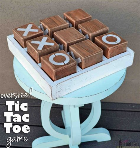 coffee table tic tac toe oversized tic tac toe game her tool belt