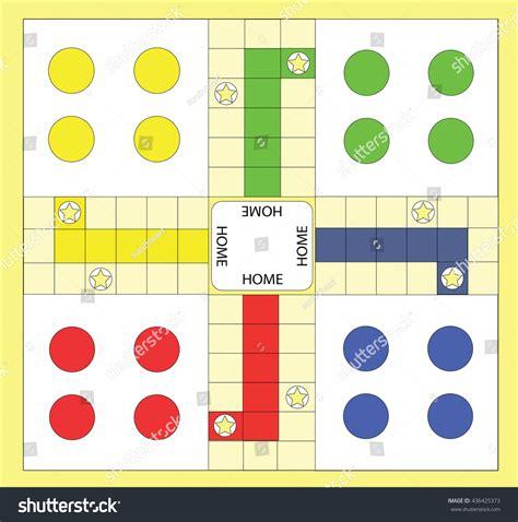 Plan Toys Ludo Pt4622 ludo board stock vector 436425373