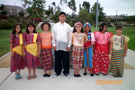 philippines traditional clothing for kids filipino american cultural association of north sandiego