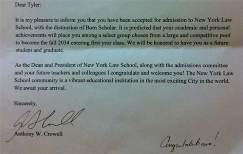 York Acceptance Letter Mistake Applications So Shockingly Low That Schools Are Now Admitting Newborn Babies Above The