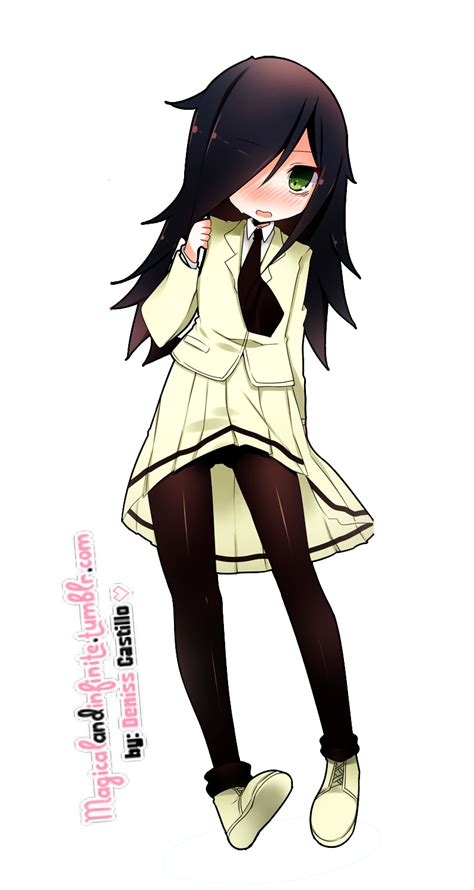 Gamis Black White Dannis No 5 render kuroki tomoko watamote by utsutsu chi on deviantart