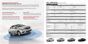 Nissan Almera Price Guide 2016 Nissan Almera Boasts Of Tweaked Design Specs And