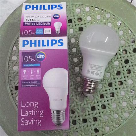 Lu Bohlam Philips Led 10 5 Watt jual bohlam lu philips led bulb 10 watt putih