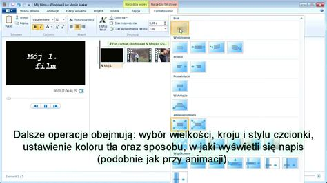 windows live movie maker tutorial download windows live movie maker tutorial pl część 3 youtube