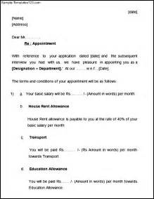 Appointment Getting Letter Letter Of Appointment Example Sample Templates