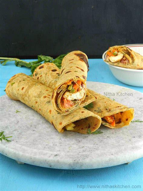 paneer kathi roll recipe vegetarian nitha kitchen paneer tikka kathi roll vegetarian