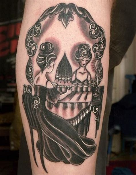 optical illusion tattoos this optical illusion shows either a in front