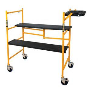 collapsible ladder home depot metaltech metaltech steel folding scaffold work platform