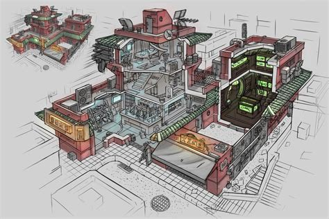 Home Designs And Architecture Concepts Cyberpunk Shop Interior By Ortsmor On Deviantart