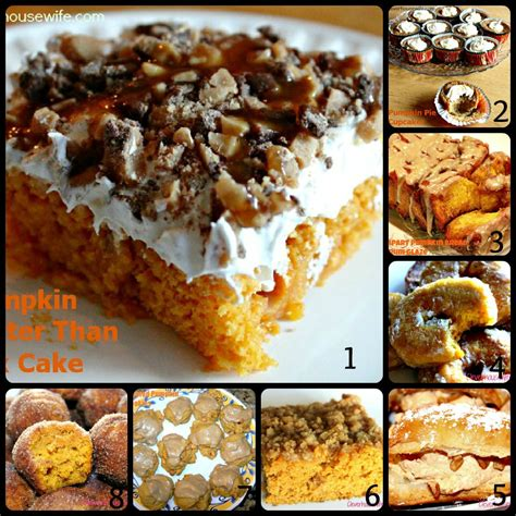 pumpkin desserts and treats clever housewife