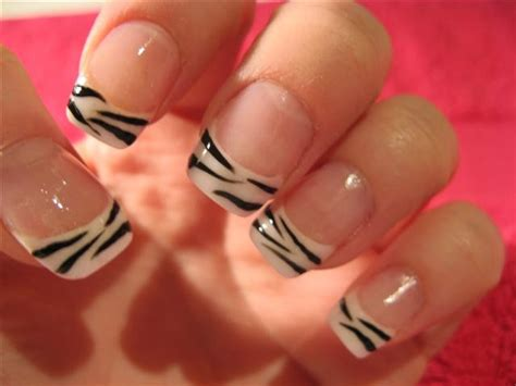 zebra pattern nail design flames onthesideofmyface cute nice zebra nail design