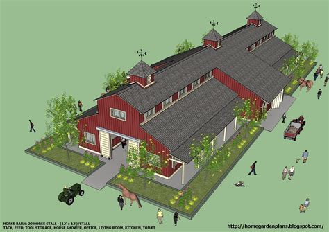 horse barn designs home garden plans b20h large horse barn for 20 horse