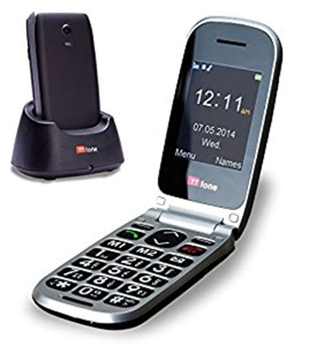 Tri Kpk 11 Digit 3g ttfone pluto big button clamshell flip mobile phone easy to use simple unlocked
