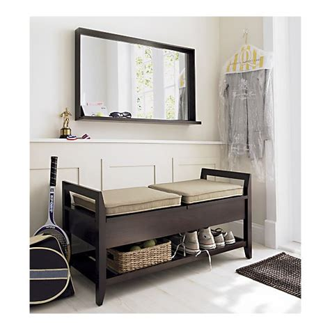 Entryway Mirror With Storage Crate Amp Barrel Entryway Benches Bench Storage Entry Ways