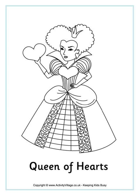 coloring page queen of hearts queen of hearts coloring pages coloring pages
