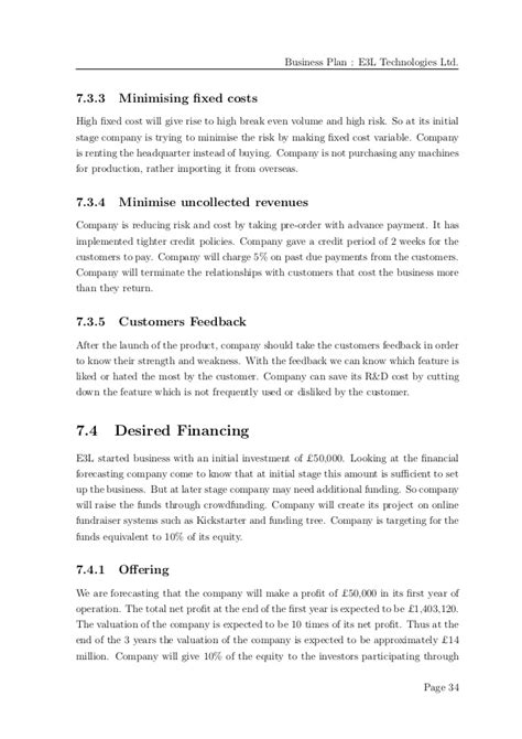 Mba Business Plan Exles by Business Plan Exle