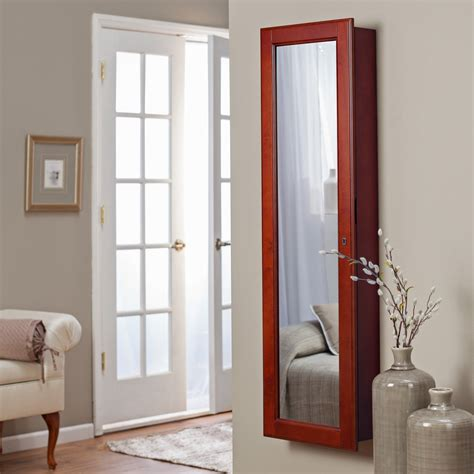 Wall Jewelry Armoire Mirror Belham Living Lighted Wall Mount Locking Jewelry Armoire