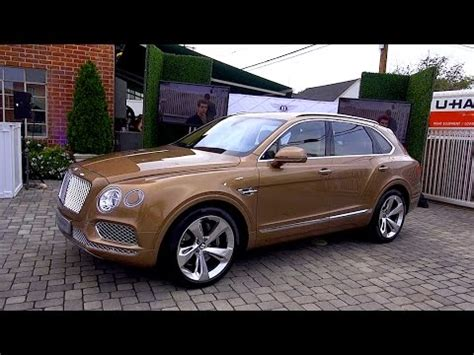 bentley bentayga suv tech design review youtube