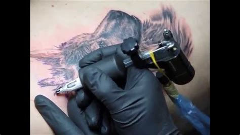 tattoo machine keeps stopping dog tattoo on the ribs using sinner rotary tattoo
