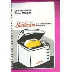 Sunbeam Bread Machine Manual 5833 Manual Sunbeam For Sale Ioffer