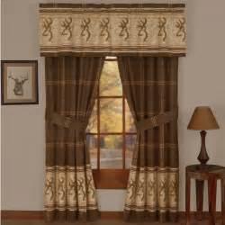 Home window themed curtains browning r buckmark deer window treatments