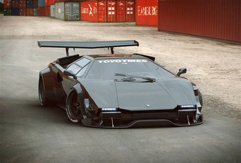 Lamborghini Countach Modified by Lamborghini Countach Concept Gtr Import Pinterest