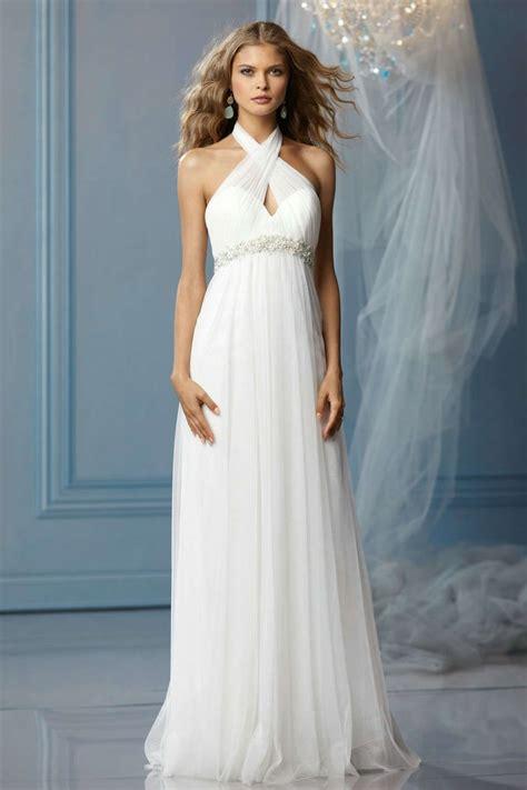 Empire Style Wedding Dresses by Halter Empire A Line Wedding Dresses