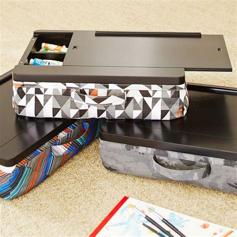 lap desk with storage compartment canvas superstorage lapdesk pbteen
