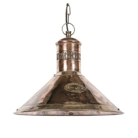 Lantern Ceiling Light Fixtures Nautical Ships Deck L In Copper With Brass Detailing For Tables