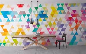 Wall art geometric mid century triangles