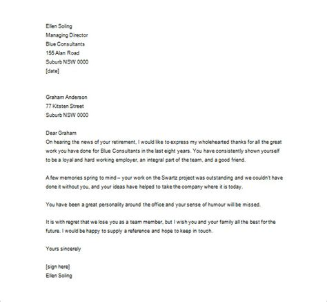 thank you letter to employee 10 free sle exle