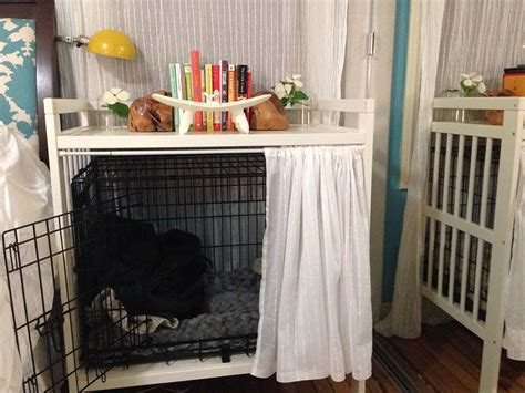 puppy crate in bedroom or not dog crate and bedside table ikea hackers ikea hackers