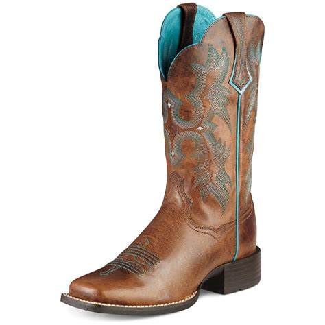 ariat womans boots s ariat 174 11 quot tombstone cowboy boots brown 282497