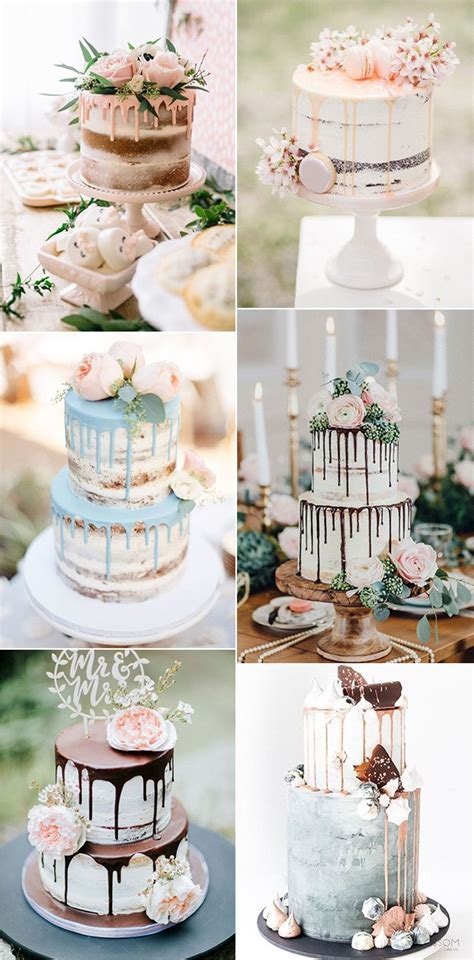 2019 Trending 20 Dreamy Drip Wedding Cakes to Love   Page