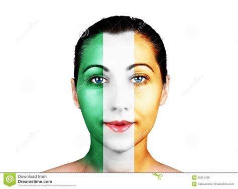 www cara cara com a bandeira da irlanda imagem de stock royalty