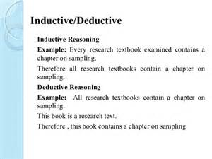 Deductive Essay Exles by Induction And Deduction Reasoning Exle Images