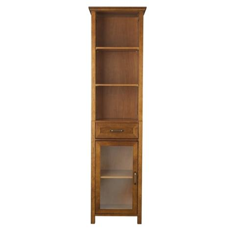 oak finish storage cabinet oak finish bathroom linen tower storage cabinet with shelves