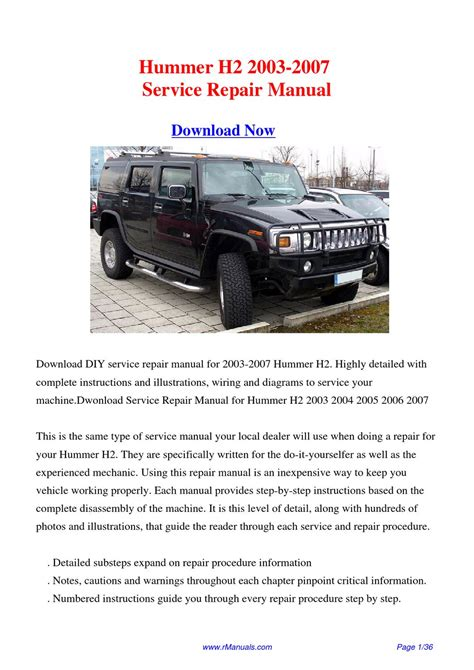 2007 hummer h3 service repair owners manuals autos post download 2003 2007 hummer h2 workshop manual pdf by david zhang issuu