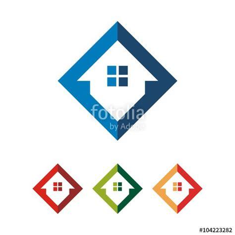 house logo design vector quot simple square home house vector logo design quot stock image