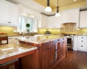 yellow tile backsplash home design ideas pictures remodel and decor brilliant