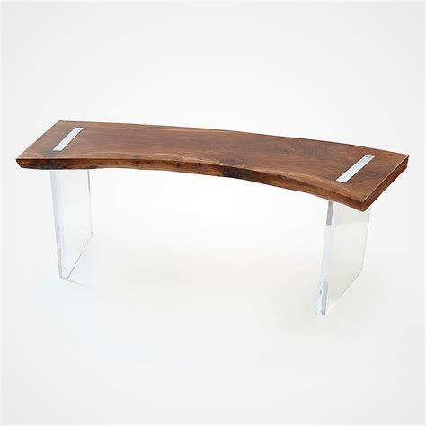 Lucite L Base by Solid Walnut Floating Desk Lucite Base Rotsen Furniture