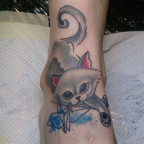 kitten tattoo on the foot tattooimages biz