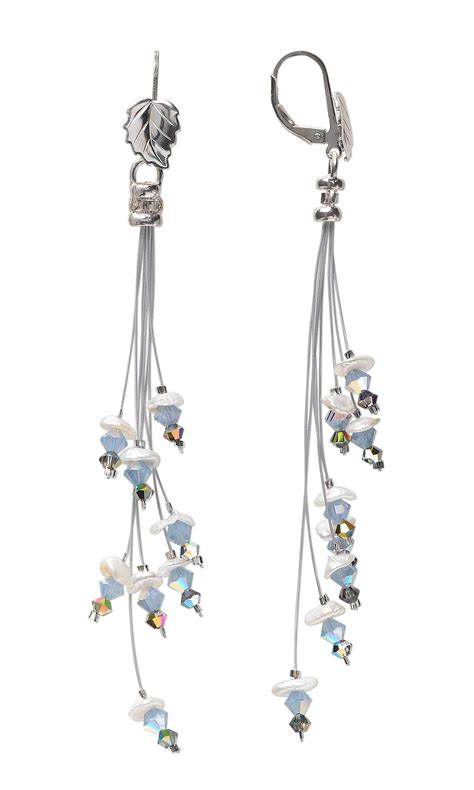 jewelry design earrings with swarovski and
