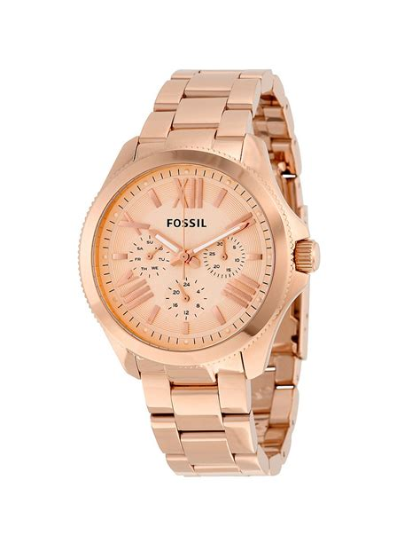 Fossil Cbell Gold 1 fossil am4511 cecile gold brands4less