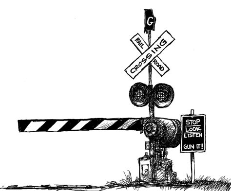 Railroad Crossing Cliparts Cliparts And Others Art Railroad Crossing Coloring Page