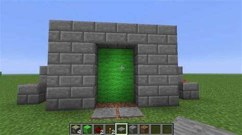Piston Door by Minecraft Piston Door Tutorial