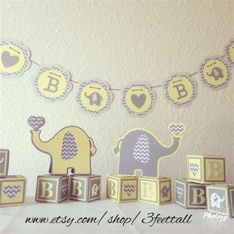 Baby Shower Elephant Decorations by Elephant Baby Shower Decoration Package Gender Neutral