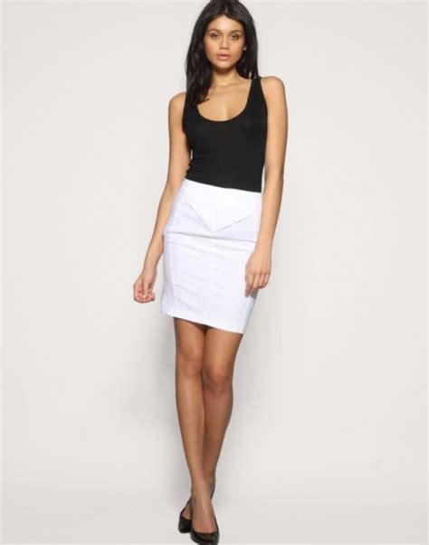 white pencil skirt for summer