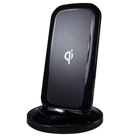 charging stands black qi tabletop wireless charging stand cablewholesale