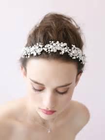 pearl headpiece aliexpress buy handmade wedding tiara headband pearl flower